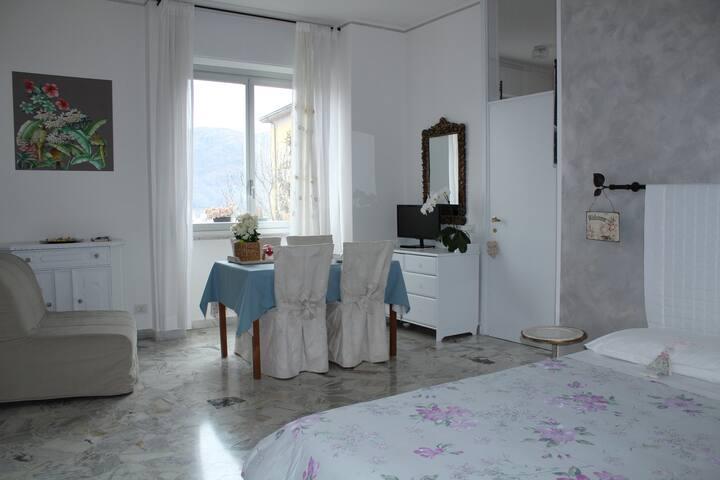 soggiorno con  letto / living room and bed room