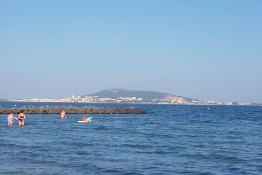 La vue depuis la plage