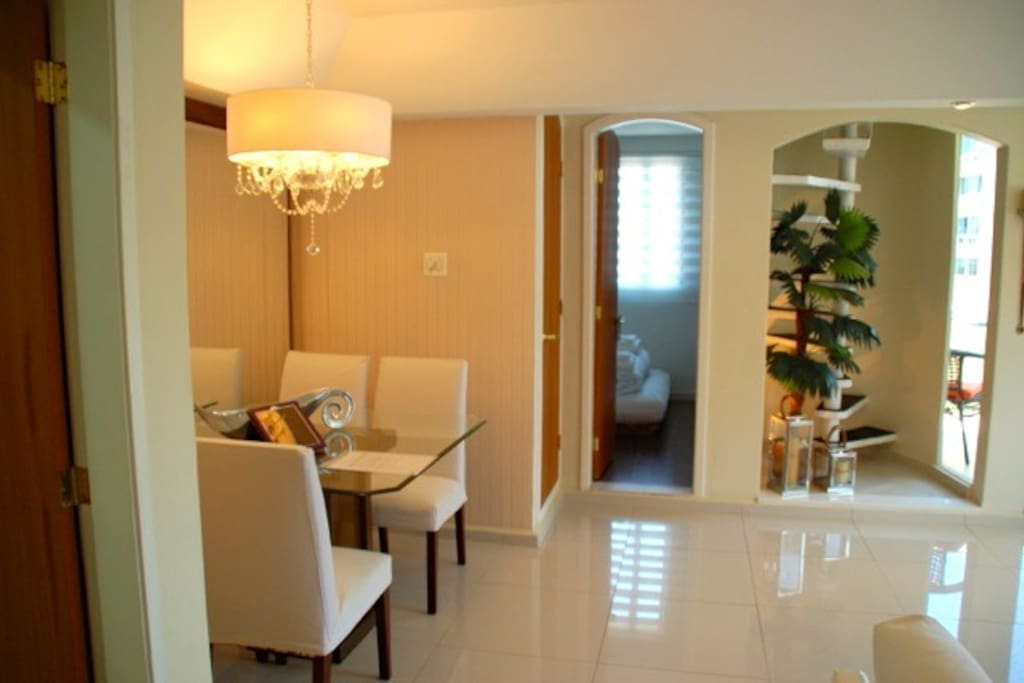 Dinning room and Bedroom 2 in the back
