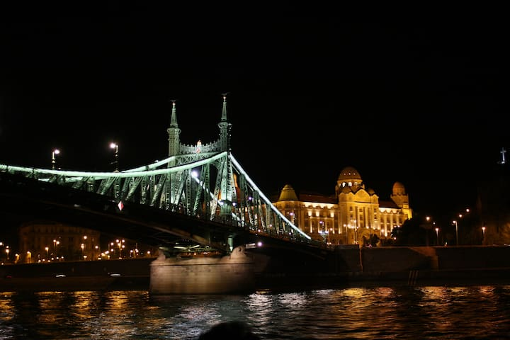 Apartment 100 meters from the Danube with great view of Gellert Bath and Freedom Bridge