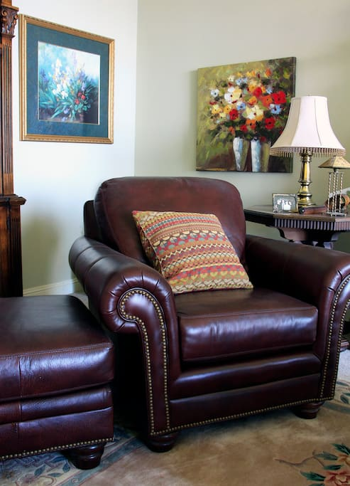 Big cozy leather chair