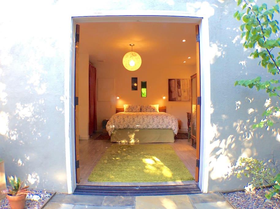 Private garden entrance