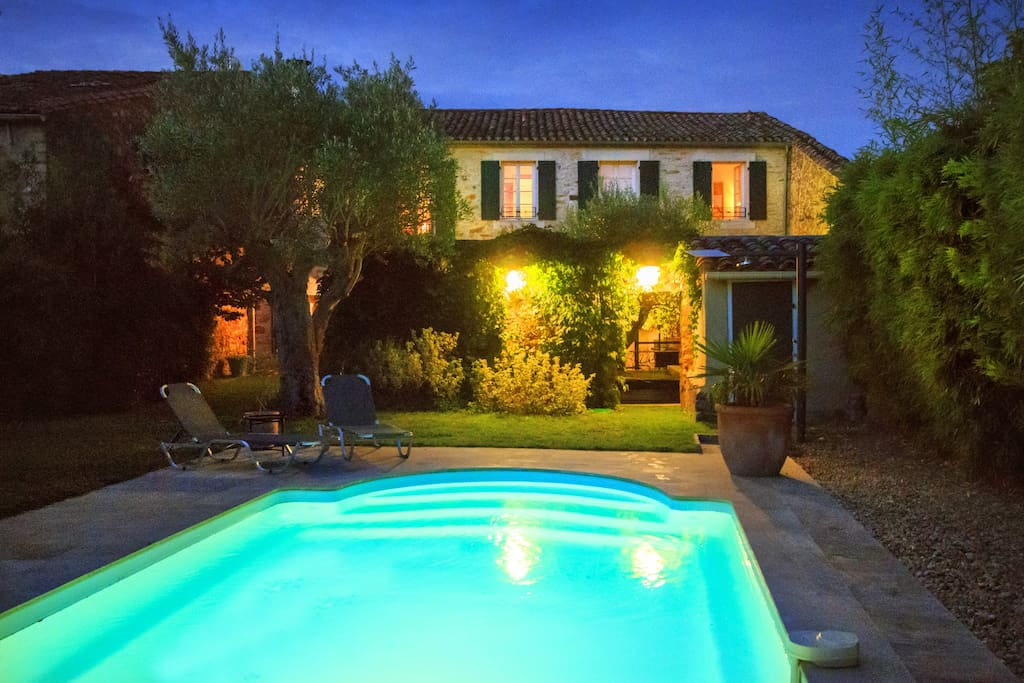 Beautifully lit pool