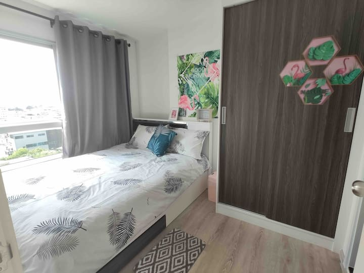 FULL HOUSE公寓 9th/MRT/BTS5mins/WIFI/泳池/健身房/Parking