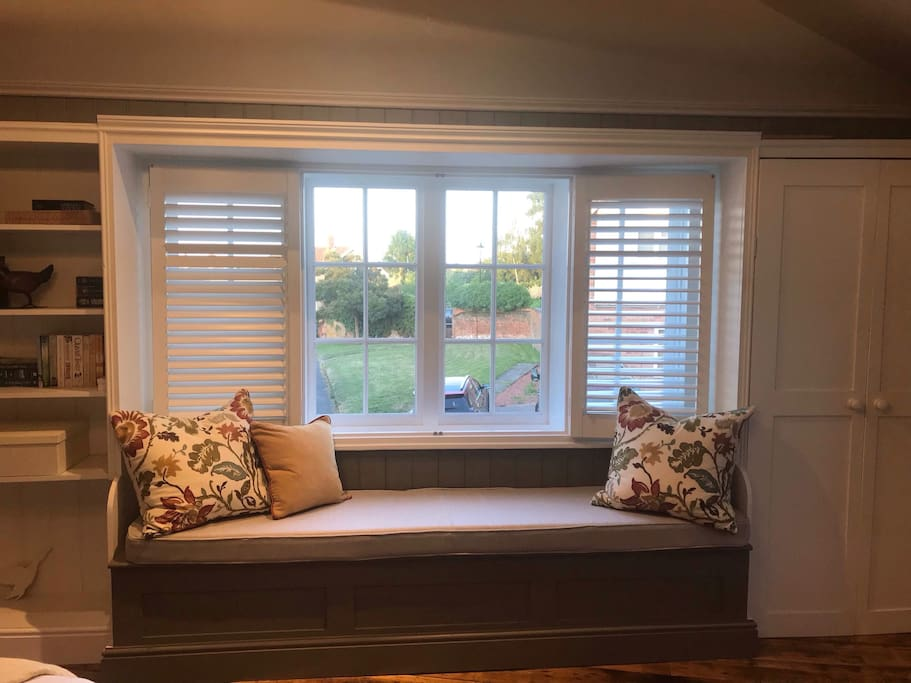 Window seat with countryside views in main bedroom