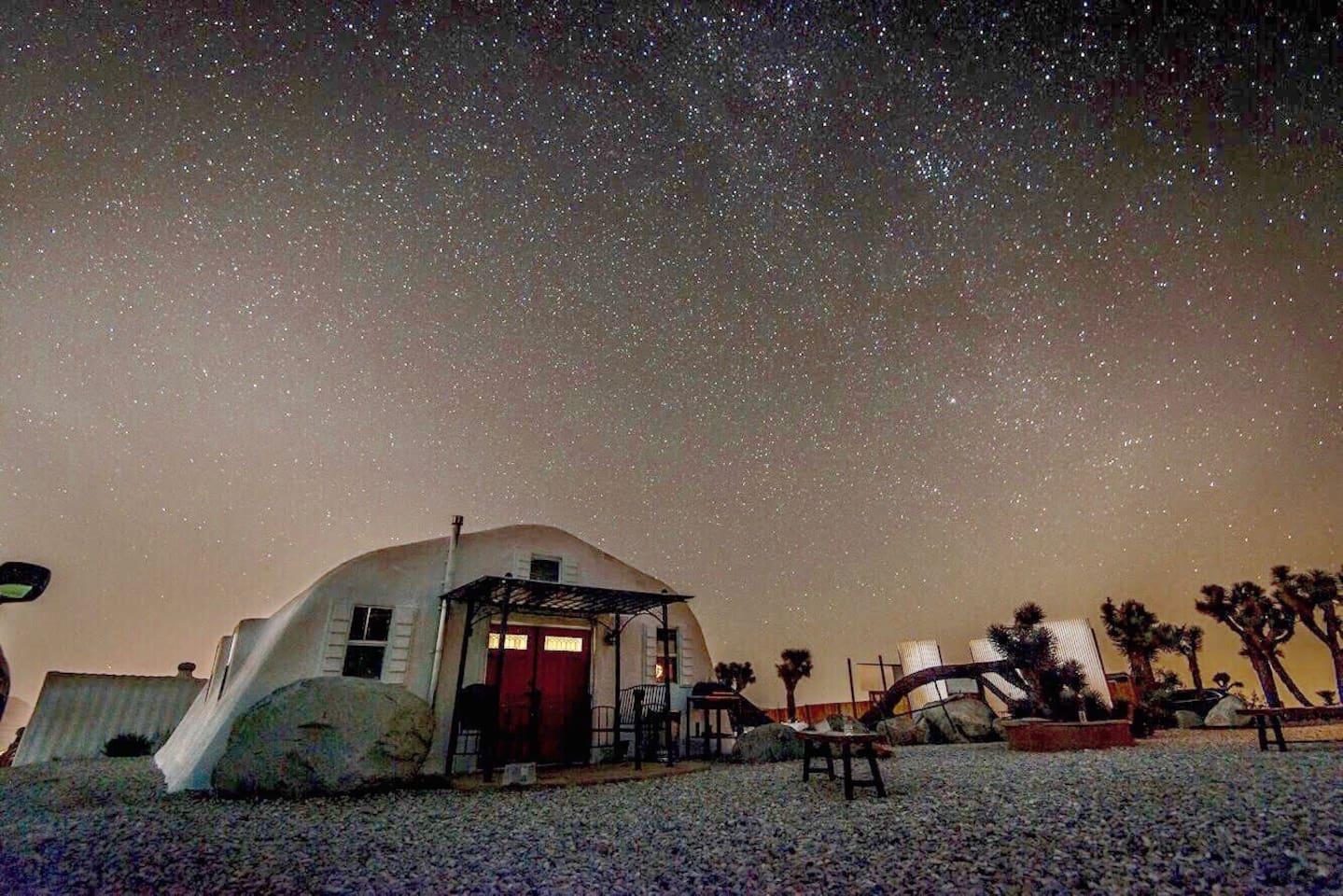 Moon Camp at Night.
