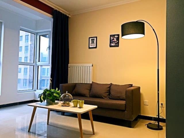 六号线常营草房物资学院通州万达北欧风格一室一厅 - Pequim - Casa