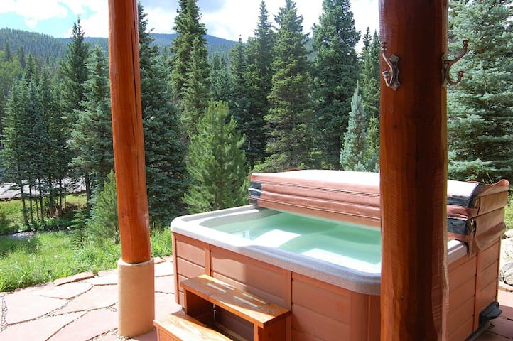 River Chant Lodge - Upper Valley -  Hot Tub -  On The River - WiFi -  Satellite - Log Cabin Interior and Decor - Washer/Dryer - Large Deck -  Two Wood Burning Fireplaces - Fire Pit - Very Quiet Area - Plenty of Parking