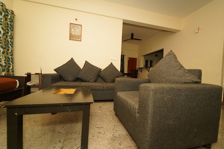 3BHK Apartment with Balcony at Cozy Ambience