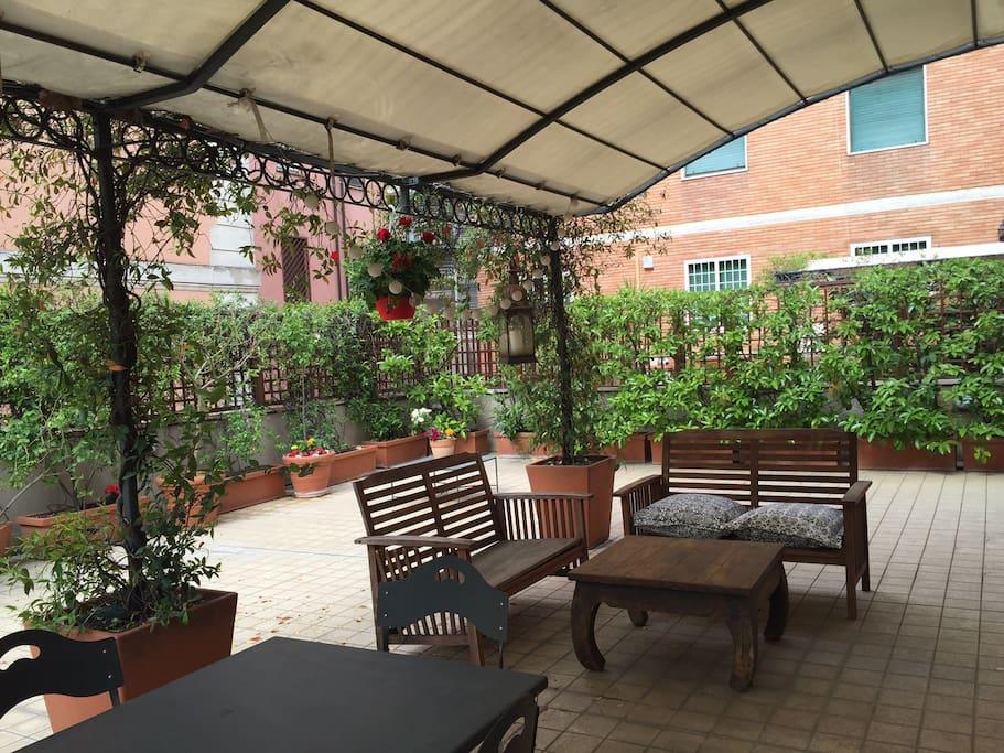 Il salotto in terrazza