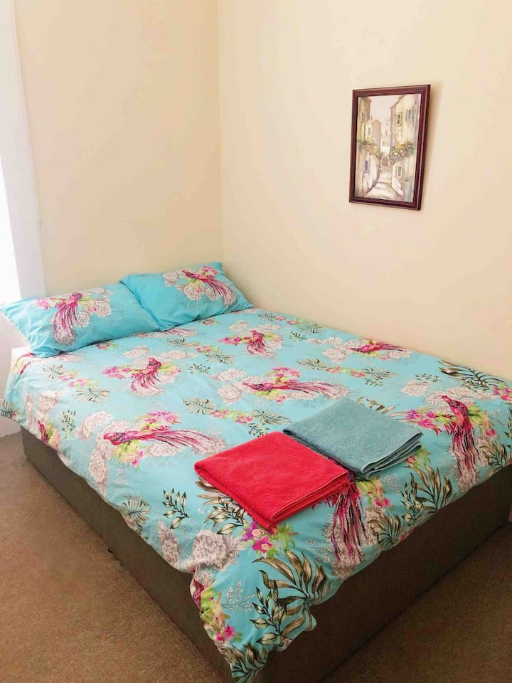 Large double bed. Extra blanket is also available in the room