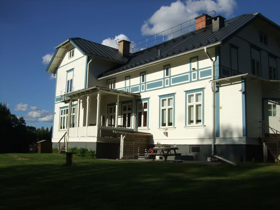 Back of the manor