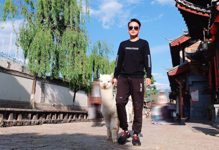 萌宠羊驼•纳西风格-指导旅游攻略-有空调电热毯-免费洗衣品茗-店长是美食达人-复式河景蜜月房