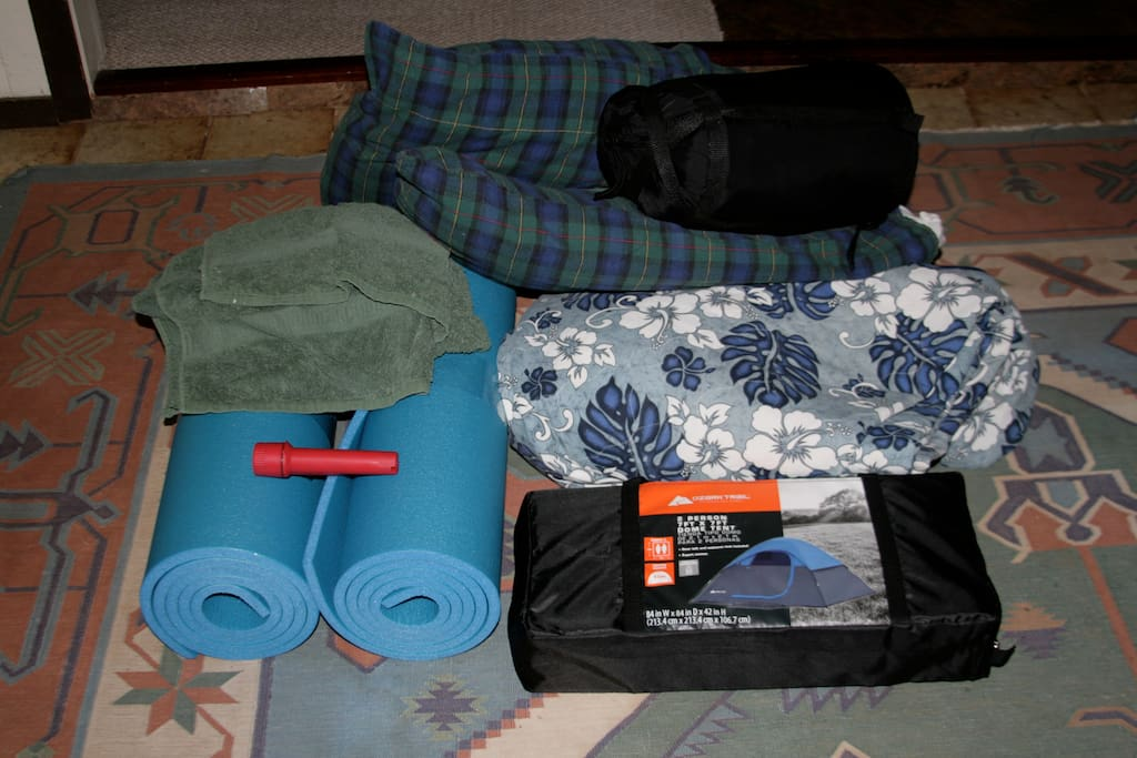 Your non glamourous camping gear ready for pick up.