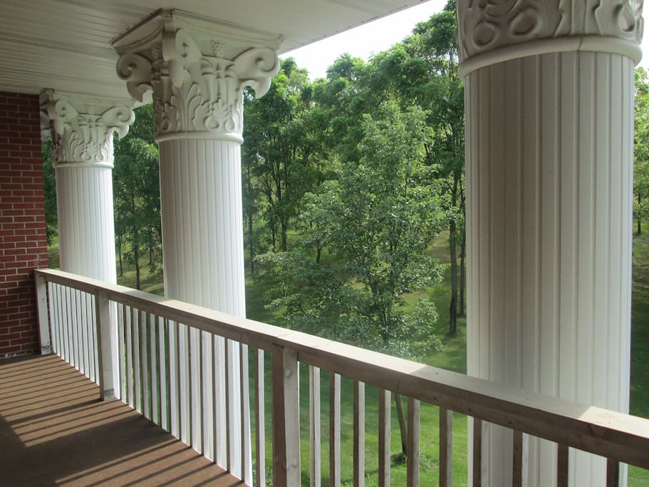 A view from the front balcony.