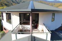 Sunny upstairs balcony
