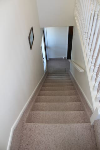 Stairway to private entrance