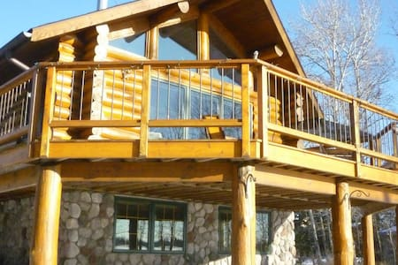 A Private Log Cabin on the Lake! - Cromwell - Hytte