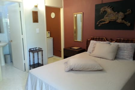 #B  2nd FLOOR FURNISHED ROOM/MINI STUDIO QUEEN BED - Ponce - Leilighet