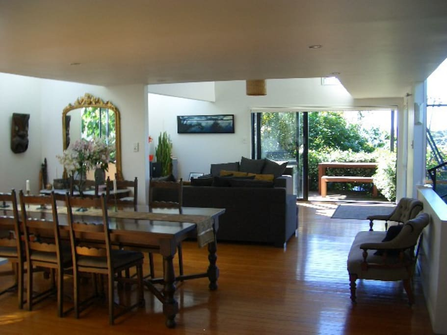 dining and lounge flow to the verandah and outside dining