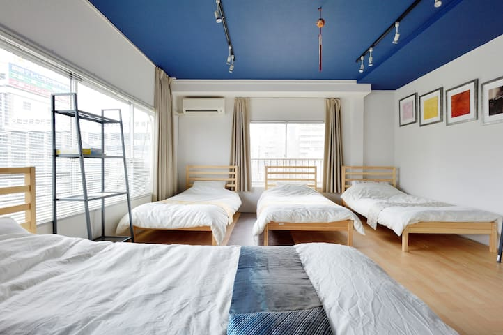 Whole floor, Osaka 15min walk, kids under 9 FREE - Osaka - Apartment