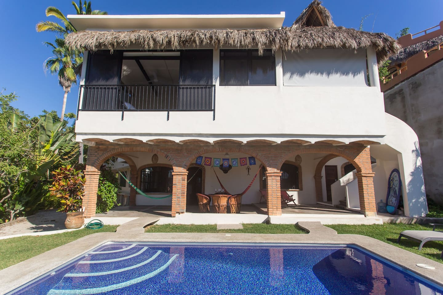 Casa Tecolote is the main 2 bedroom house on the first floor.  I live in the apartment above it.