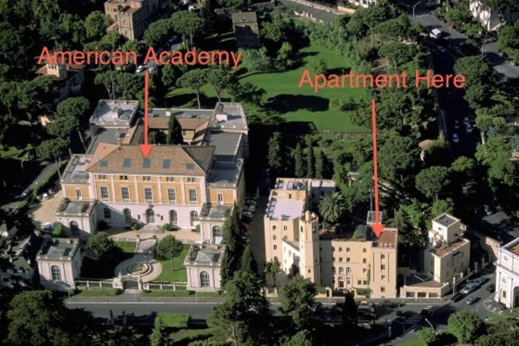 Arial of the Apartment - located in one of the nicest areas in Rome!