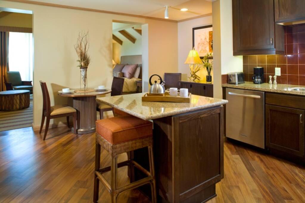 Gourmet open-style kitchen