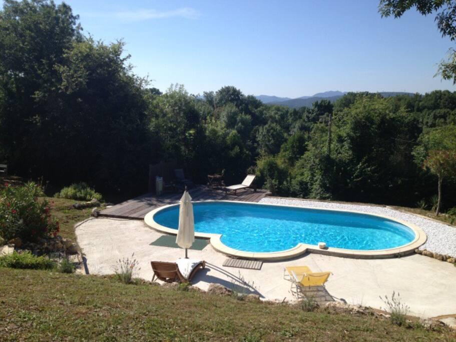 Villa avec piscine vue montagnes villas louer for Piscine 2 alpes