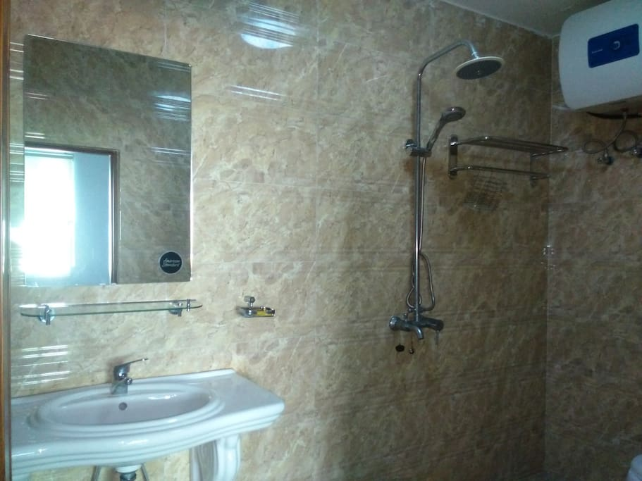 Attached bathroom of guest room