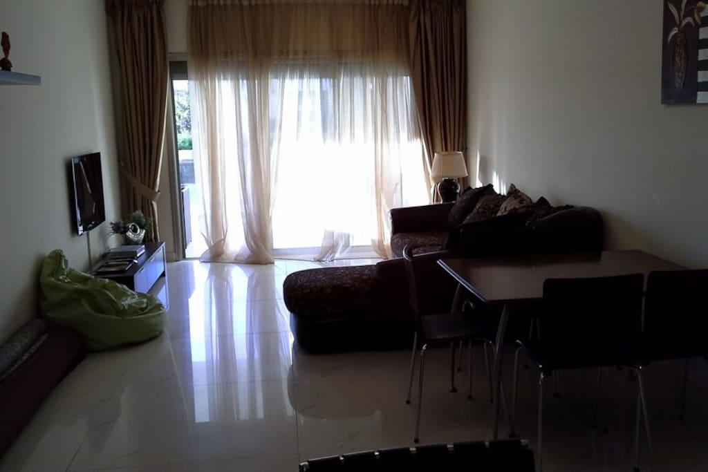 Sitting area.
