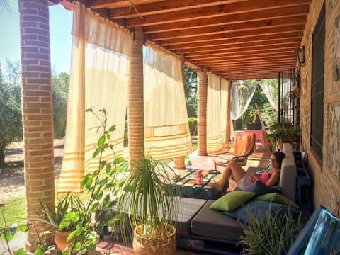 Finca El Arca. Casa rural con piscina