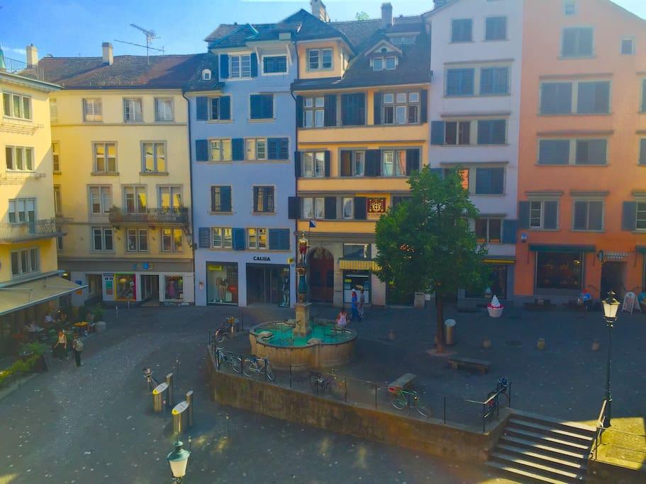 View overlooking Niederdorf