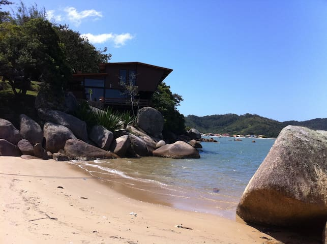 One of the private beaches of the property