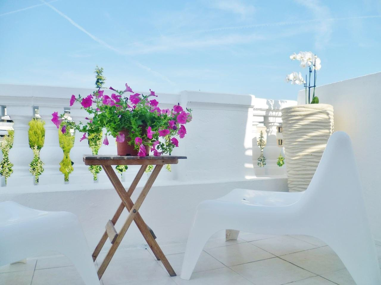 Terrasse au Soleil avec Vue Mer