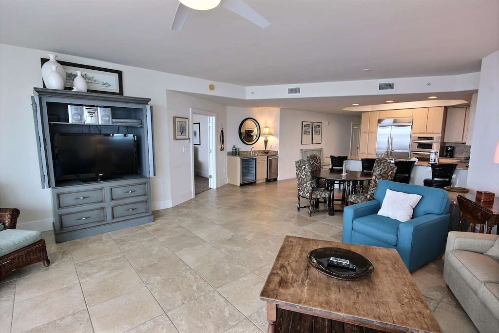 Living room with 45-inch TV and DVD