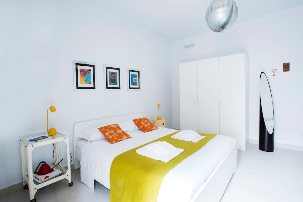Room 1-one is warm and comfortable. Sleep in a double bed cm160x200 and read a book on soft armchairs. With balcony, three-door closet, air conditioning and heating.