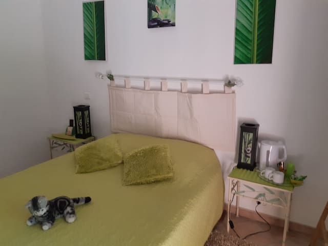 """La chambre des""""bambous"""" pour 3 voir 4"""
