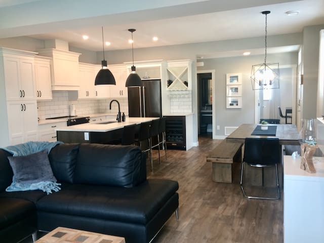 Brand new gorgeous open concept main floor living space. Fully equipped kitchen
