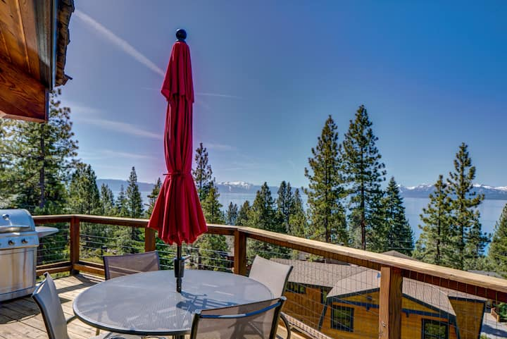 PANORAMIC Lake View! Tahoe City within minutes!