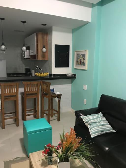 Living Room overlooking kitchen