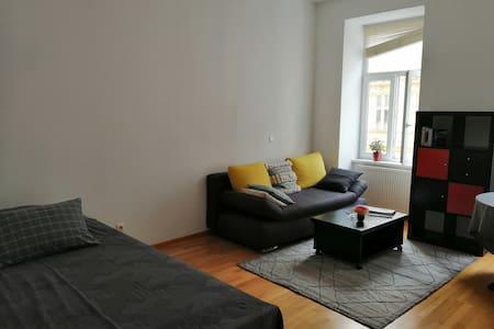 Ein  Zimmer in einem noblesten Bezirk Wiens.
