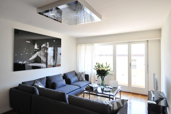 Magnifique appartement, quartier calme de Sion - Sion - Apartemen