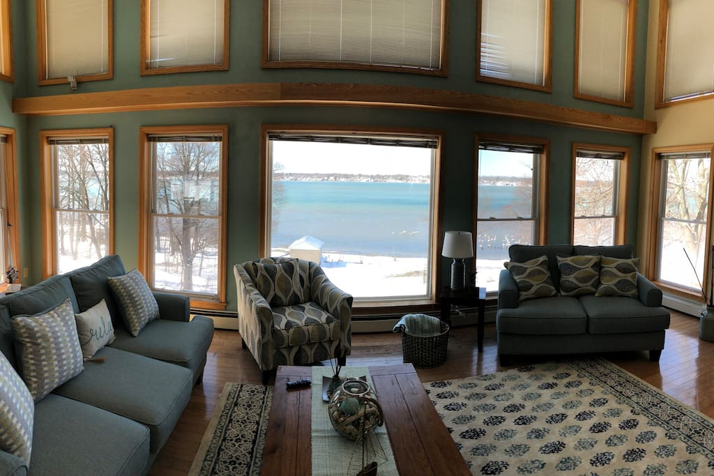 Great Room overlooking Cayuga Lake