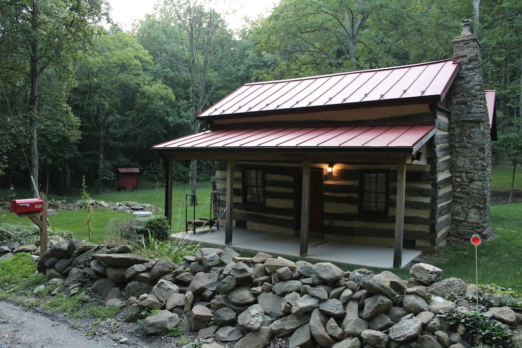 Cabin and front porch