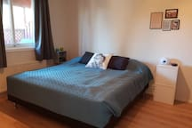Bedroom 1: King size bed