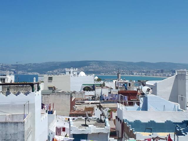 Vue panoramique sur la baie de Tanger