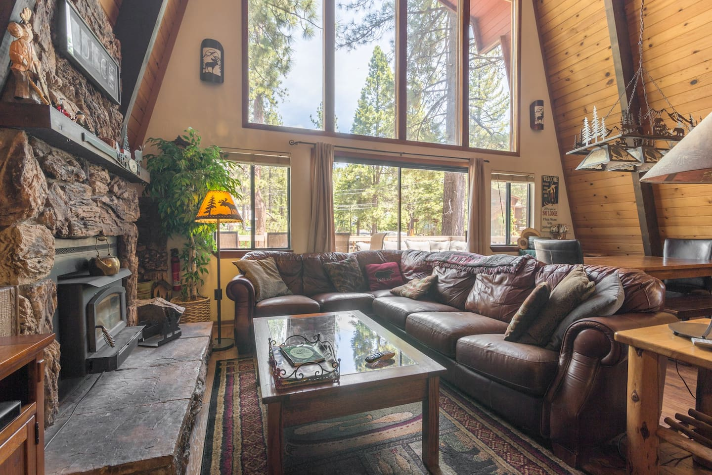 Rest easy and enjoy this austere woodland cabin.  You're in the very heart of North Lake Tahoe!