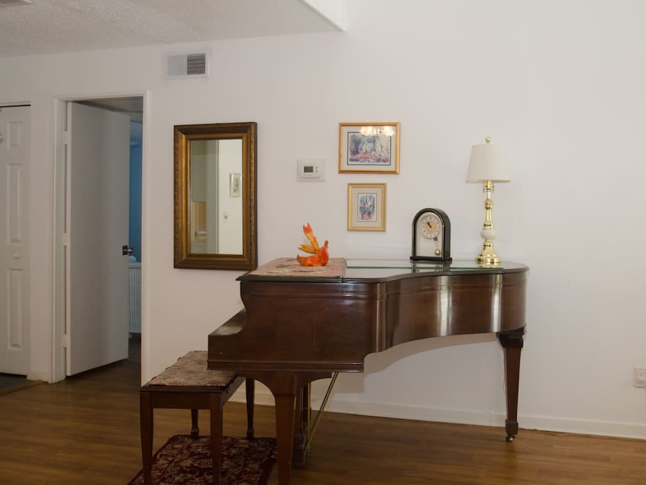 For the piano player, enjoy the baby grand.