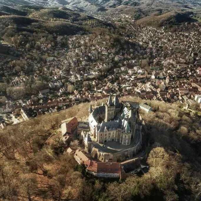 Unser Schloss aus der Vogelperspektive